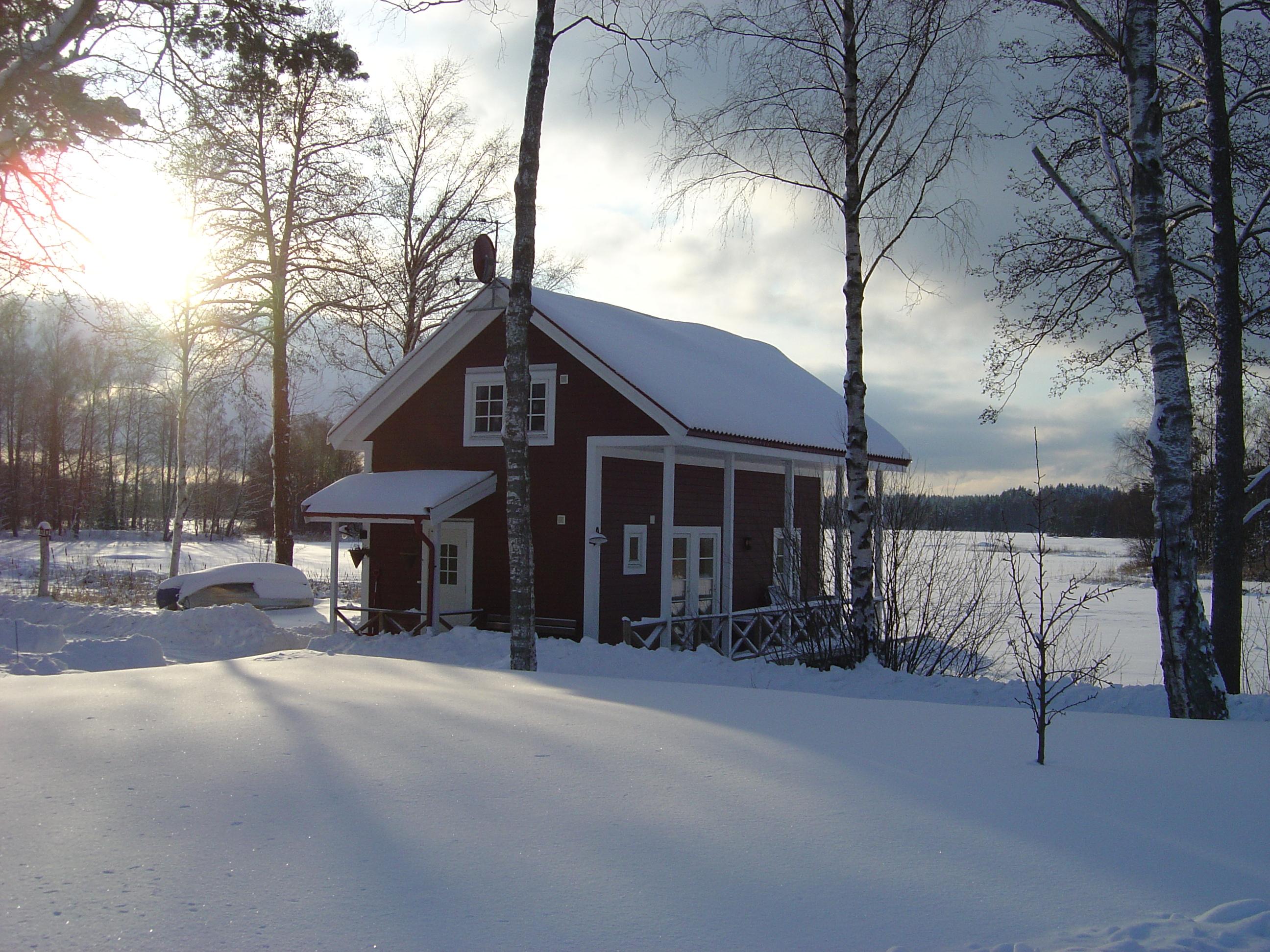 Ferienhaus Idala - Außenansicht im Winter